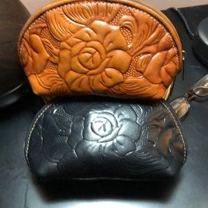 Patricia Nash leather make up bags